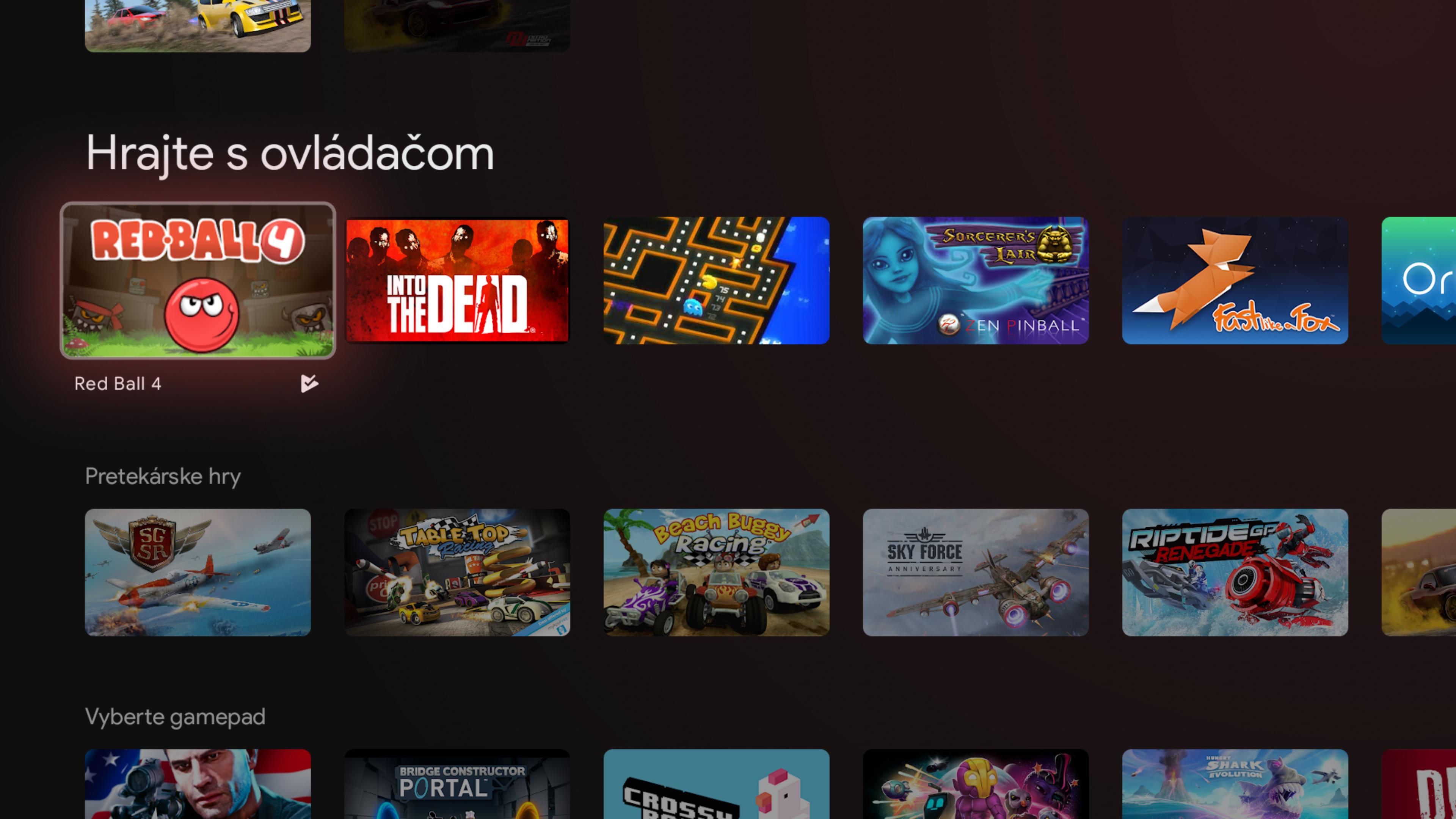 K dispozícii je hromada hier pre Android, ktoré si vieš zahrať aj s gamepadom.