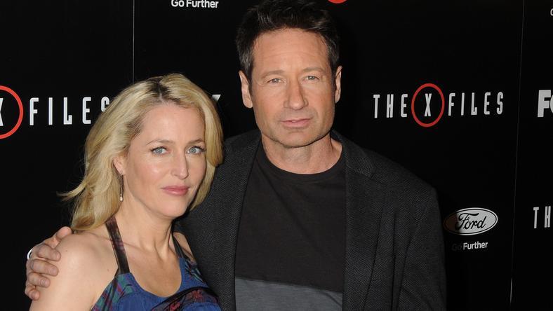 Gillian Anderson és David Duchovny az új X-Akták premierjén /Fotó: Northfoto