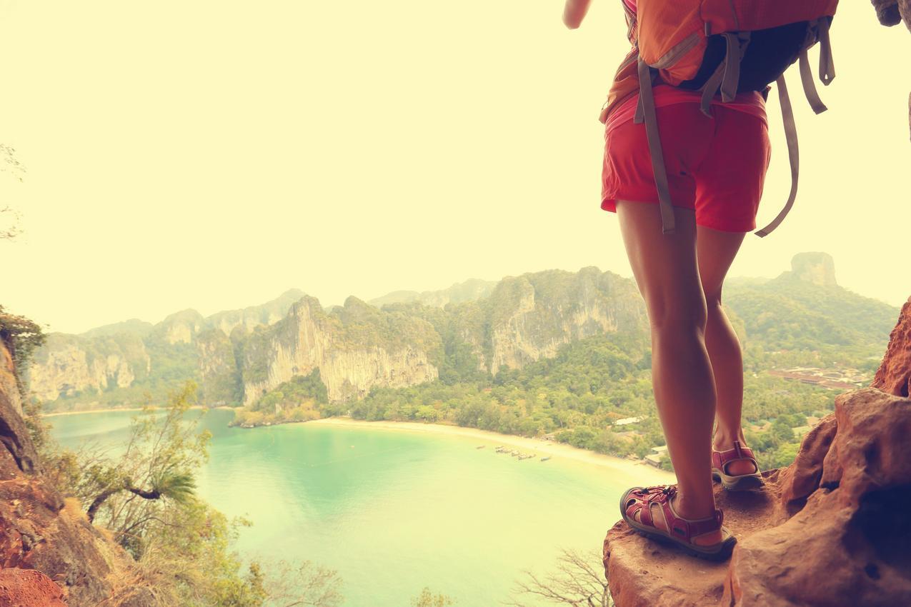 sandały w górach