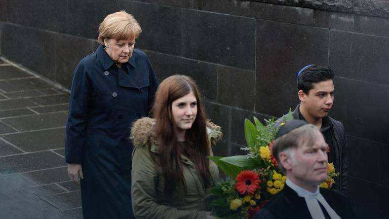 Merkel podczas uroczystości w Dachau