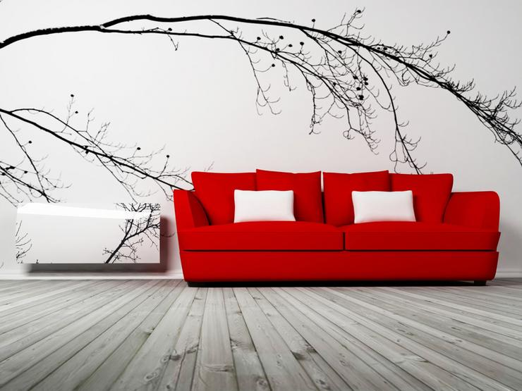 Fototapeta Quot Room With Red Curtains And Vintage Wallpaper 61245330 ...