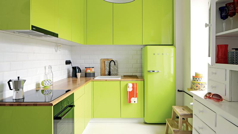 Kuchnia w kolorze limonki  Dom -> Kuchnia Polowa Karcher