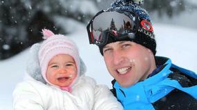 Brytyjska rodzina królewska na nartach