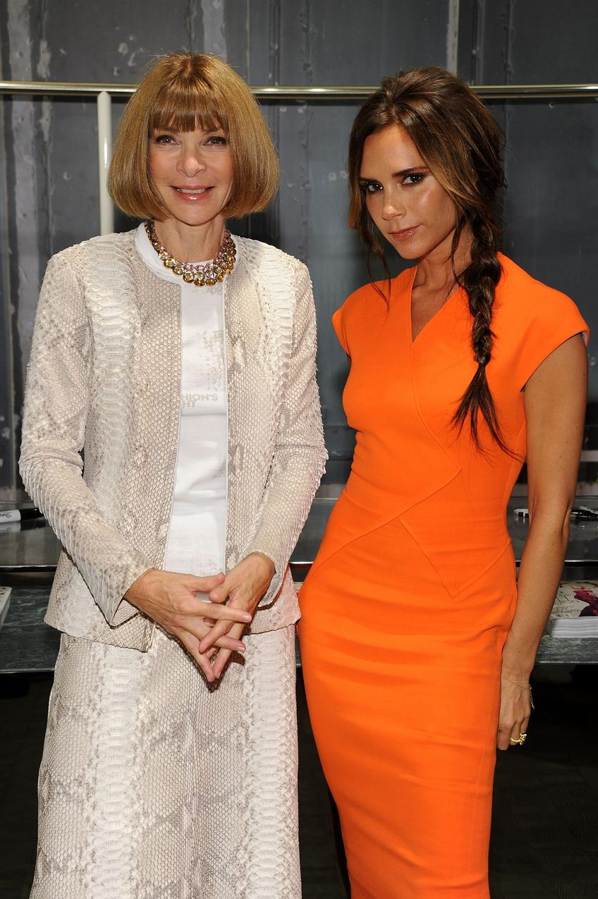 Anna Wintour i Victoria Beckham / Getty Images