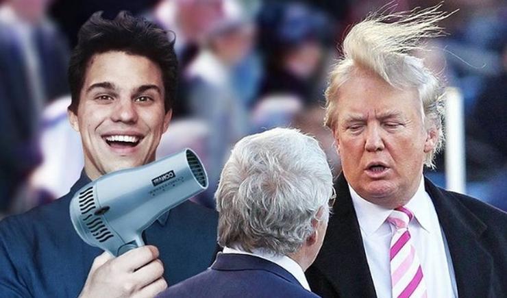 Donald Trump haját hajszárítóval fújta/ Fotó: Instagram