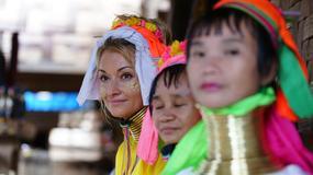 Martyna i kobiety o długich szyjach w Tajlandii