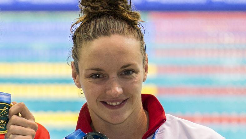 Hosszú Katinka három aranyat szerzett Austinban /Fotó: AFP