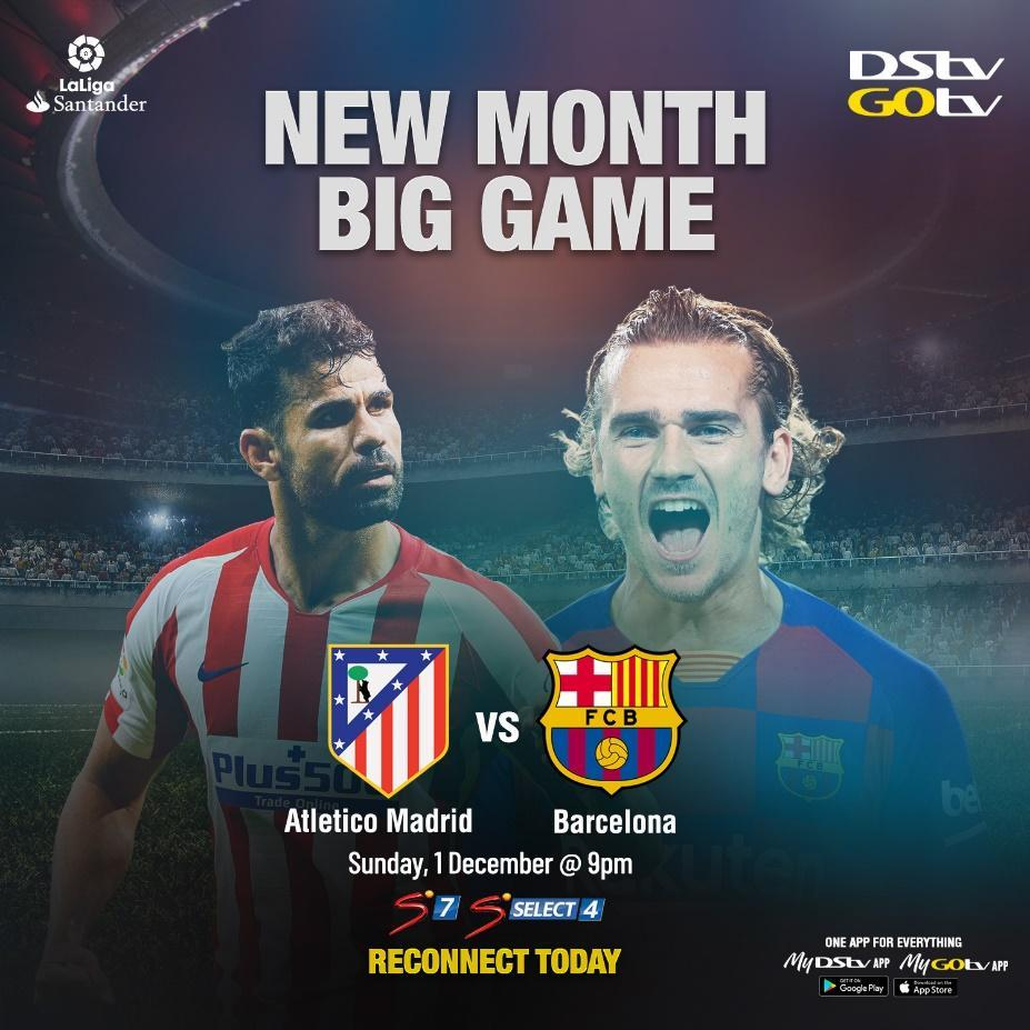 Barcelona square up against  Atletico Madrid in the Spanish La Liga.