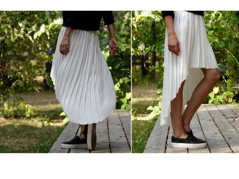 Spódnica przed i po