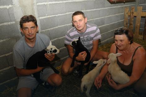 Braća Ljubiša i Siniša Sekulić sa majkom