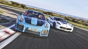 Porsche 911 GT2 RS kontra Chevrolet Corvette Z06 - nie do wiary