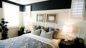 Dwa kolory idealne do sypialni