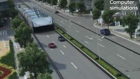 Futurystyczny chiński autobus sposobem na miejskie korki