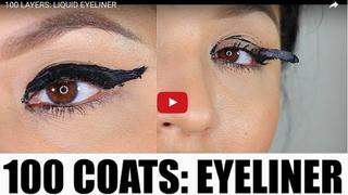 Hit sieci: sto warstw makijażu