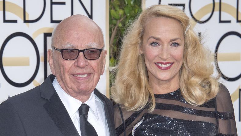 Rupert Murdoch és Jerry Hall / Fotó: Northfoto