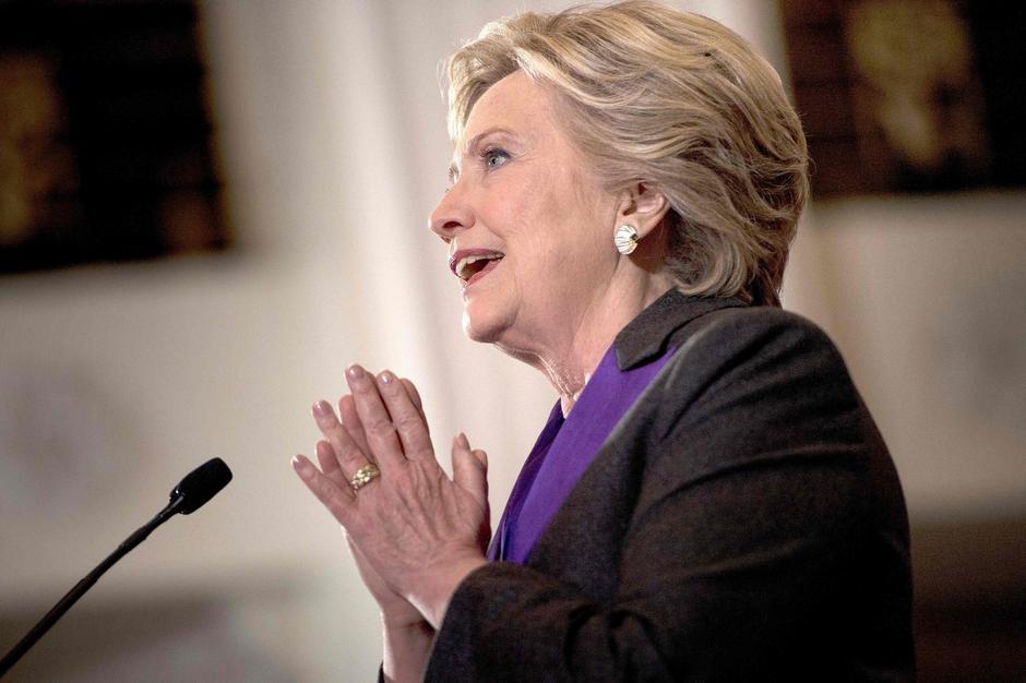 Hillary Clinton podczas przemówienia