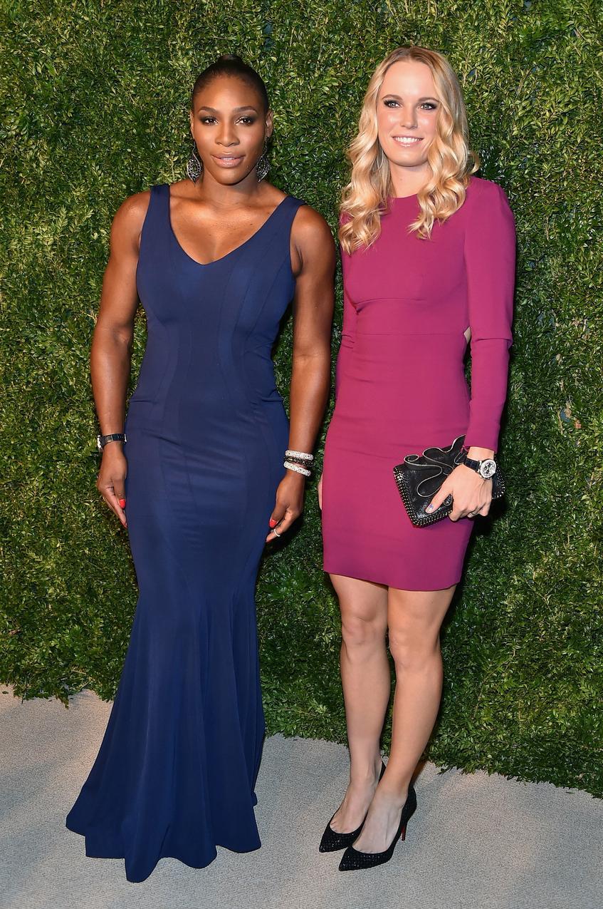 Serena Williams i Caroline Woźniacki / fot. Getty Images