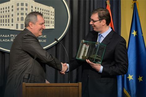 Dmitrij Rogozin i Aleksandar Vučić