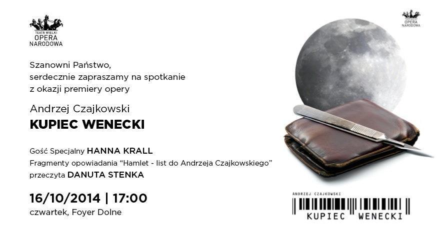 Kupiec Wenecki _ Teatr Wielki / materiały promocyjne