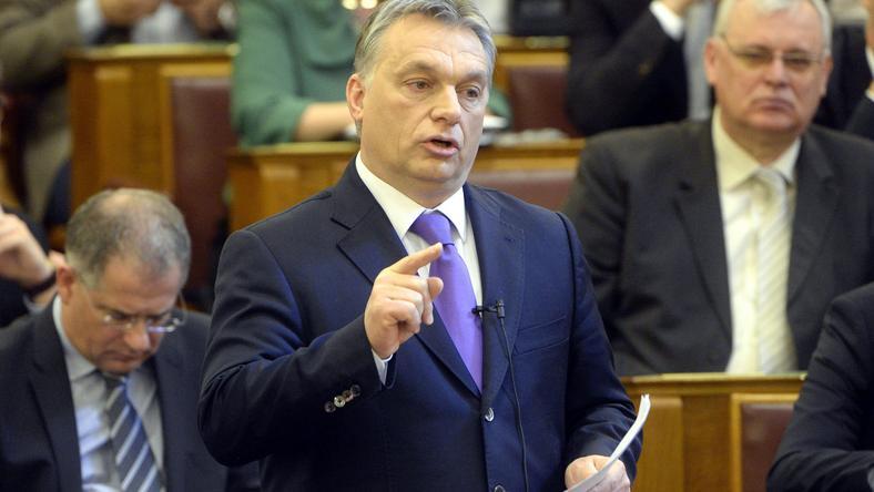 Orbán Viktor napirend előtti felszólalásában beszélt a menekültválságról /Fotó: MTI - Kovács Tamás