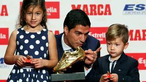 Luis Suarez ze słodkimi pociechami