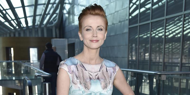 Katarzyna Zielińska bez włosów i makijażu