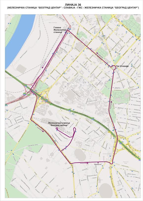 Linija 36 Startuje Sutra A Ovo Su Red Voznje I Mapa Blic Rs