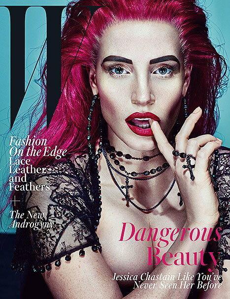 """Seksowna i demoniczna Jessica Chastain na okładce """"W Magazine"""""""
