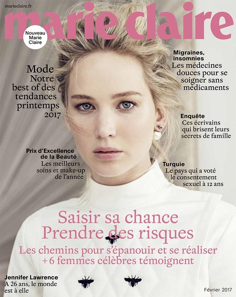 "Jennifer Lawrence dla ""Marie Claire"""