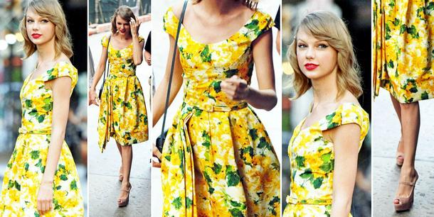 BEST LOOK: Taylor Swift w sukience Oscar de la Renta