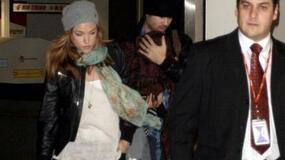 Colin Farrell i Alicja Bachleda-Curuś z synkiem na lotnisku w Los Angeles