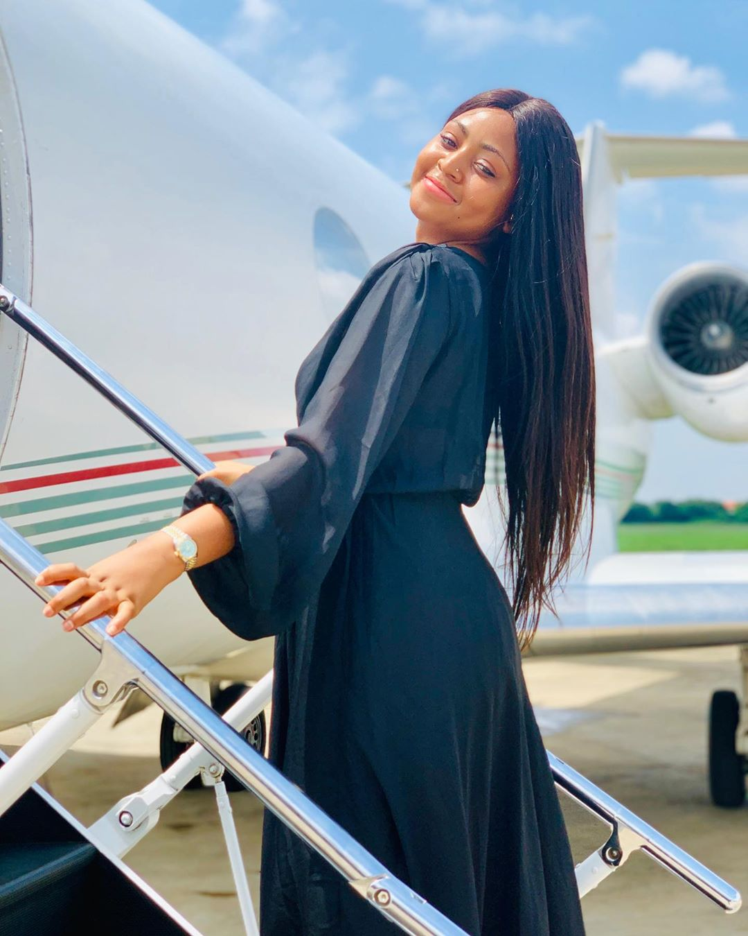 Regina Daniels like we all know isn't shy on social media, hence we think it won't be hard for her to initiate her politician and businessman husband into the fierce world of celebrities where nothing is hidden.[Instagram/ReginaDaniels]