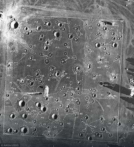 Ova mapa pokazuje raspored veštački napravljenih kratera