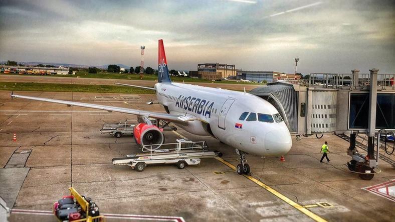 Az Air Serbia utasszálító gépe Beirutból tartott Portlandbe. /Fotó: Twitter