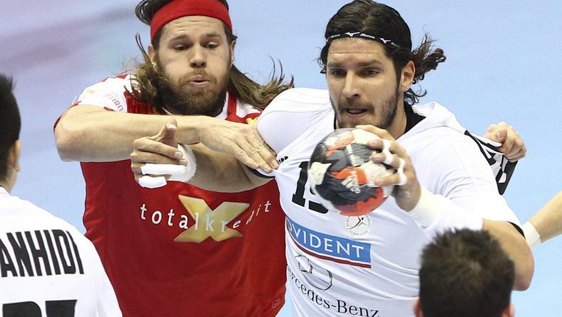Nagy (jobbra) és a csapat nem bírt Hansennel és a dánokkal. 30- 22-es vereség lett a vége / Fotó: MTI-Kovács Anikó