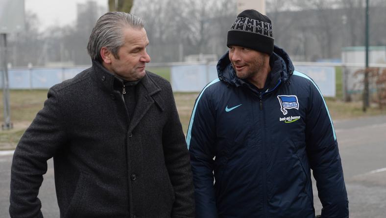 Bernd Storck (balra) szerint fantasztikus, amit Dárdai Pál elért a tavasszal még kiesőjelölt csapat élén / Fotó: Imago