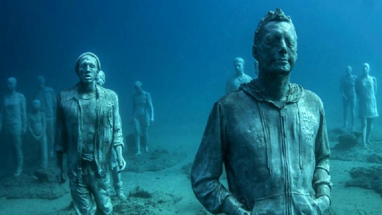 A víz alatti kiállítás /Fotó: BBC