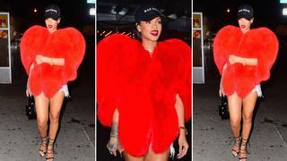 Best Look: Rihanna w czerwonym futrze od Saint Laurent