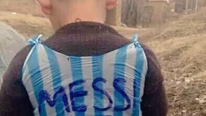 Az öt éves iraki kisfiú Messi nagy rajongója/Fotó: Twitter
