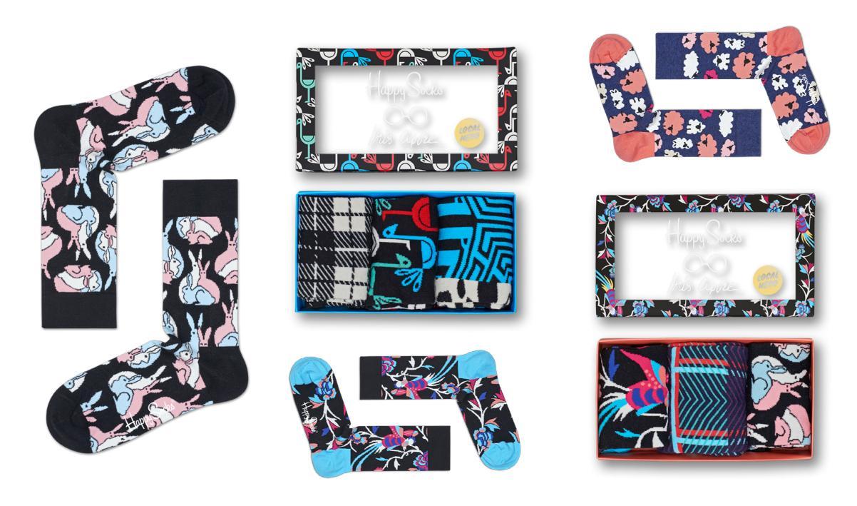 Skarpetki zaprojektowane przez Iris Apfel