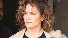 """Jennifer Lopez w prześwitującej bluzce na planie """"Shades of Blue"""""""