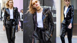 Best Look: Karlie Kloss w marynarce Saint Laurent