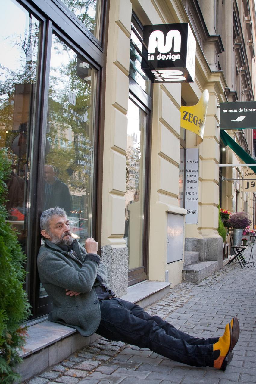 Marek Raczkowski na otwarciu butiku Fun In Design / fot. Krzysztof Szulim
