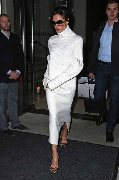 Victoria Beckham cała na biało