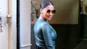 36-letnia żona gwiazdora NBA w obcisłej skórzanej sukience - sexy?