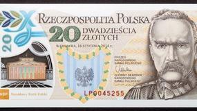 Prestiżowa nagroda dla polimerowego banknotu z Józefem Piłsudskim