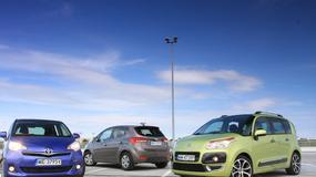 Toyota Verso S kontra Hyundai ix20 i Citroen C3 Picasso: czy to vany idealne na miasto?