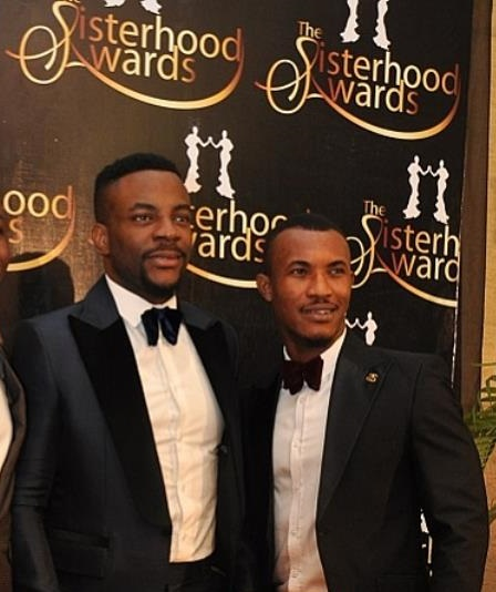 Ex-housemates of Big Brother Nigeria, Ebuka and Gideon Okeke
