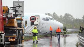 Włochy: lądujący samolot transportowy wjechał na obwodnicę koło Bergamo