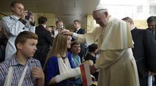 Papież Franciszek odwiedził małych pacjentów w Prokocimiu